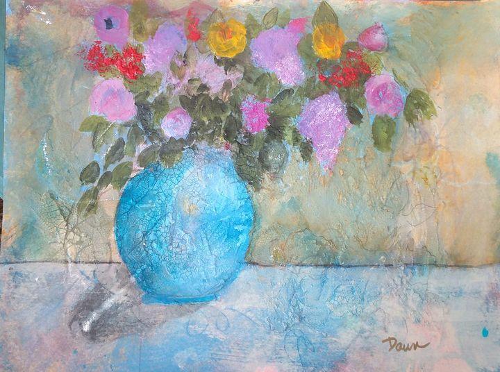 Floral, mixed media